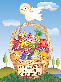 12 Fruits of the Holy Spirit Poster